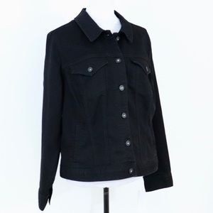 Black denim jacket plus-size Style & Co